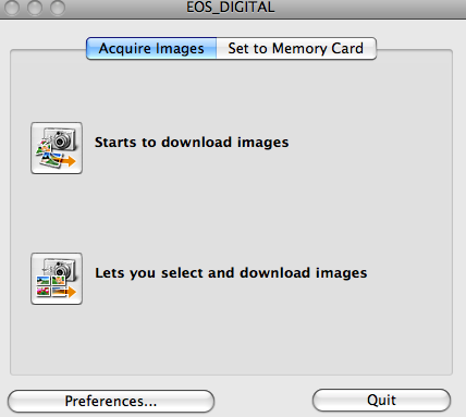 Canon download options.